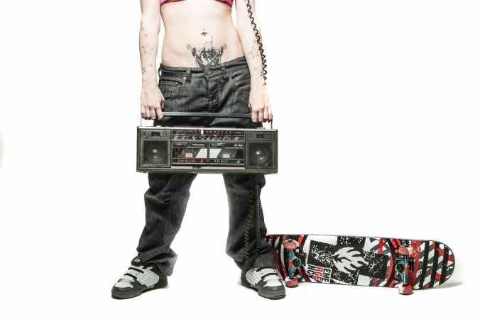 alternative cassette girl hipster